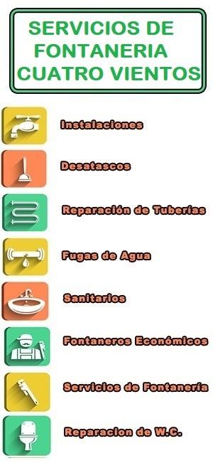 servicios de fontaneria en Cuatro Vientos